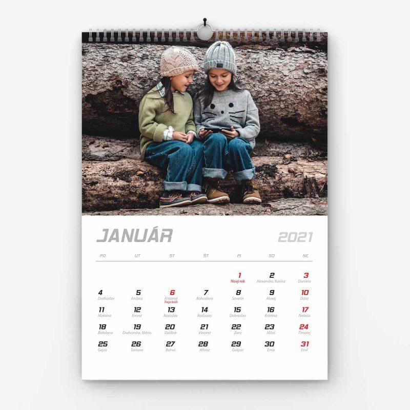 Nástenný kalendár z vlastných fotiek - šablóna č. 03