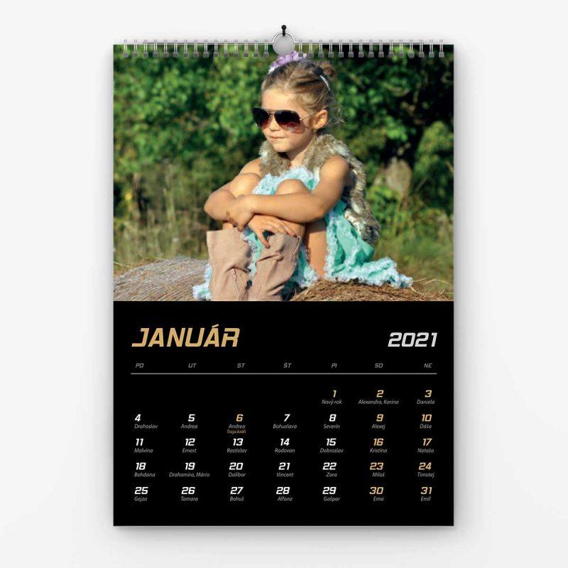 Nástenný kalendrá z vlastných fotiek - šablóna č. 4