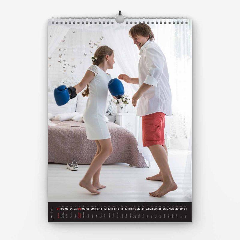 Nástenný kalendár z vlastných fotiek - šablóna č. 05