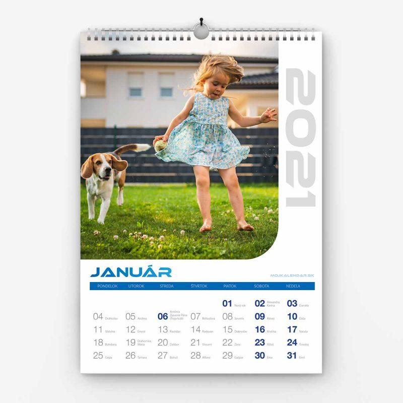 Nástenný kalendár z vlastných fotiek - šablóna č. 11