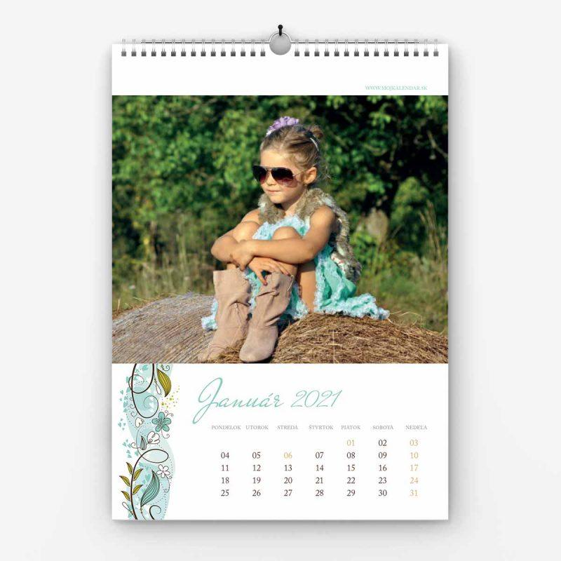 Nástenný kalendár z vlastných fotiek - šablóna č. 12