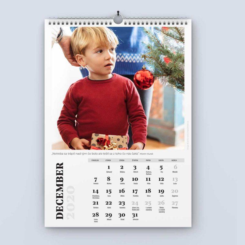 Nástenný kalendár šablóna 24 - december