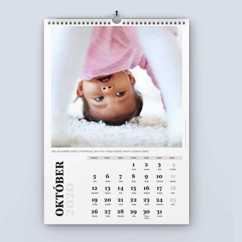 Nástenný kalendár šablóna 24 - október